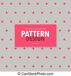 minimal gray background with pink polka dots