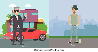 Rich Pauper Men. Difference Between Social Levels - Rich and...