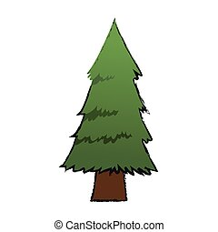 pine tree icon over white background. vector illustration