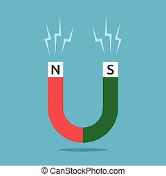 Red and green magnet - Red and green horseshoe shaped magnet...