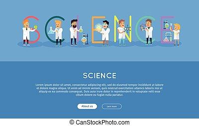 Ciencia, alfabeto, bandera