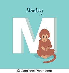Animals Alphabet. Letter - M