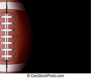 Vector rugby ball background. Football sport game...