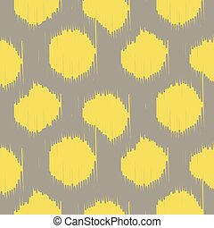 Ikat bold dots vector seamless pattern. Abstract geometric...