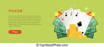 Pocker Online Games Dice Casino Banners Set - Pocker online...