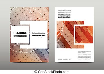 Vector Clip Art of Abstract vector layout background set. For art ...
