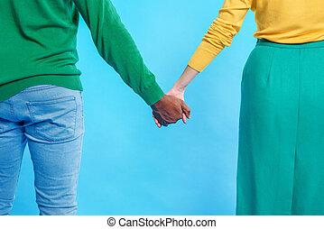 Compartir, pareja, Sentimientos, su, bastante, amoroso