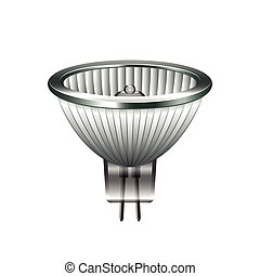 Halogen light bulb isolated on white vector - Halogen light...