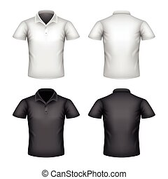 Male polo shirt isolated on white vector