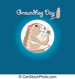 Graphics card for Groundhog Day - Bright fun graphics card...