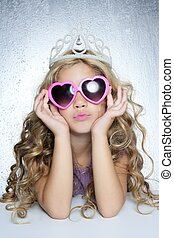 fashion victim little princess girl portrait - fashion...