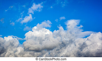 Clouds with blue sky , natural texture.