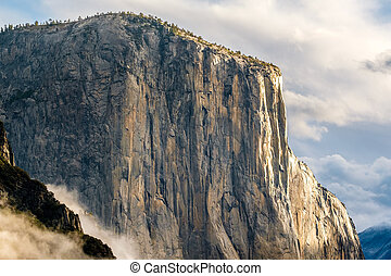 El Capitan rock in Yosemite National Park - El Capitan rock...