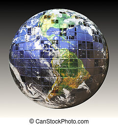 3D Wire Frame Earth