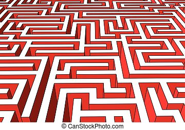 labyrinth - huge and endless labyrinth