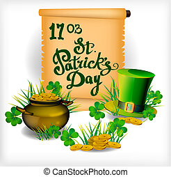 St. Patrick s Day - vector greeting card - vector postcard...