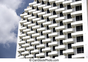 Balconies - The symmetry of many apartment balconies.