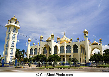 Old Small Town Mosque - Image of an old mosque in Malaysia.