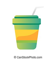 Take out drink cup vector illustration. - Take out drink cup...