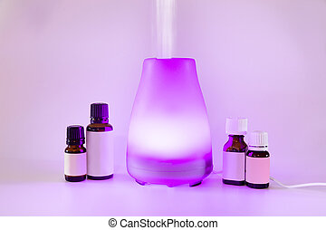 Essential Oil Diffuser - Colorful lit essential oil diffuser...
