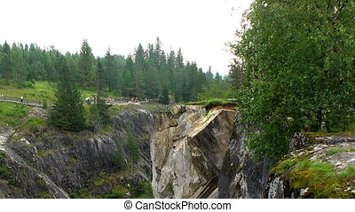 Landscape Marble Canyon. Ruskeala. Karelia.