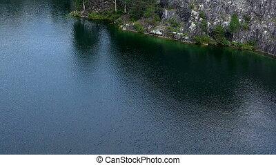 Landscape Marble Canyon. Ruskeala. Karelia. - Landscape...
