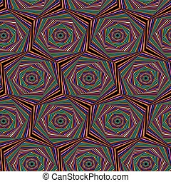 Seamless pattern with multicolor hexagonal forms - Abstract...