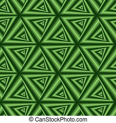 Seamless pattern with green triangle forms - Creative...