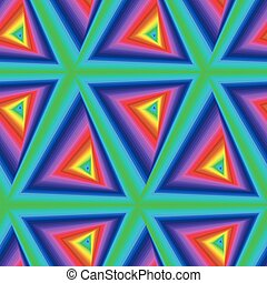 Seamless pattern with multicolor triangle forms - Creative...