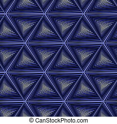 Seamless pattern with dark blue triangle shapes - Creative...