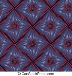 Seamless pattern with whirling quadratic forms - Abstract...