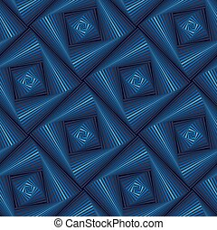 Seamless pattern with blue quadratic forms - Abstract...