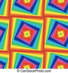 Seamless pattern with colourful quadratic forms - Abstract...