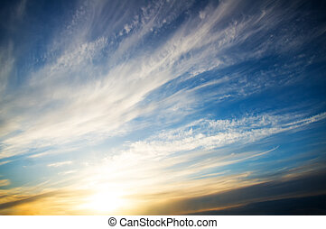 sunset sky background. Nature composition.