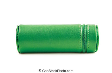 Cylindrical pencil case isolated - Cylindrical pencil case...