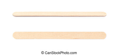 Medical test wooden stick isolated over the white...