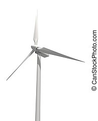 windmill - 3d rendered illustration of an isolated windmill...