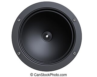 speaker - 3d rendered illustration of an isolated speakers