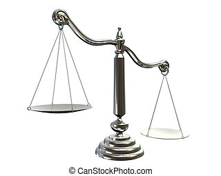 libra/scale  - 3d rendered illustration of a silver scale