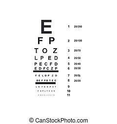 eye doctor chart, vector