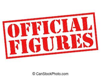 OFFICIAL FIGURES red Rubber Stamp over a white background.