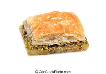 Turkish baklava . - Turkish baklava on white background