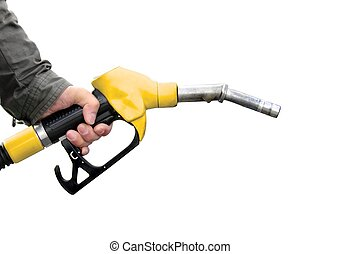 Fuel pump on white background