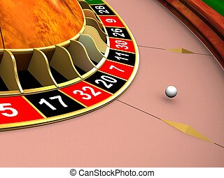 roulette wheel - 3d rendered illustration from a part of a...