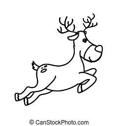 happy merry christmas reindeer card
