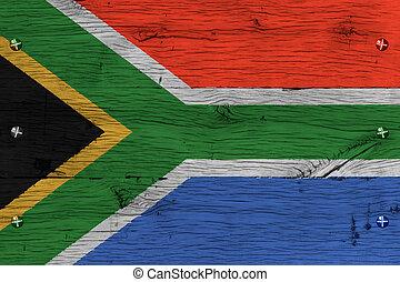 antigas, pintado, África, nacional, carvalho, bandeira,...