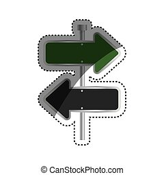 Road sign directions icon vector illustration graphic design