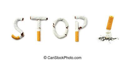 Stop smoking close up image