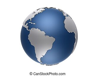 3d globe - 3d rendered illustration of an isolated globe