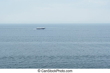 Hydrofoil on Lake Baikal. Floats far and fast. Photographed...
